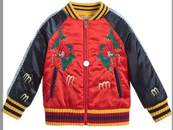 Chamarra Boys Satin Bomber Jacket