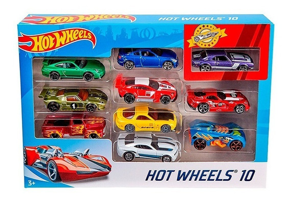 Hot Wheels Pack X10 Coleccion Autos Surtidos - Mattel E.full