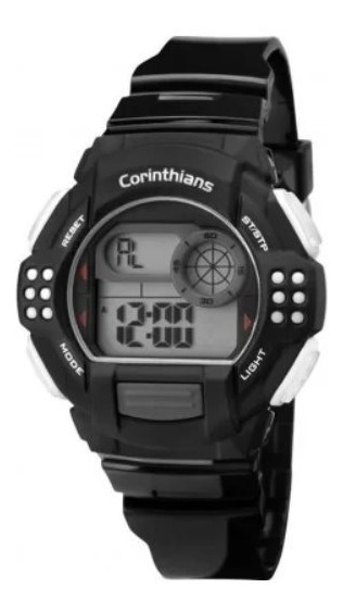Relógio Technos Digital Cor13615a/8p Oficial Corinthians