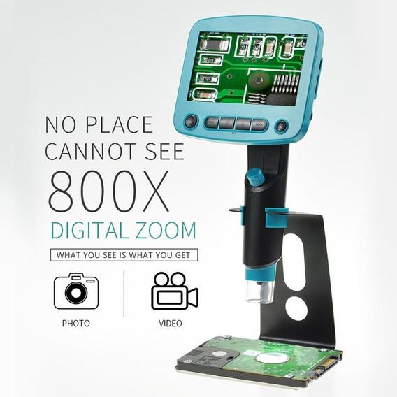 800x4.3 Display Lcd Solda Microscópio Digital Portátil Usb