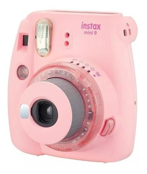Câmera Instantânea Fujifilm Instaxmini9 - Cor Rosa Instax