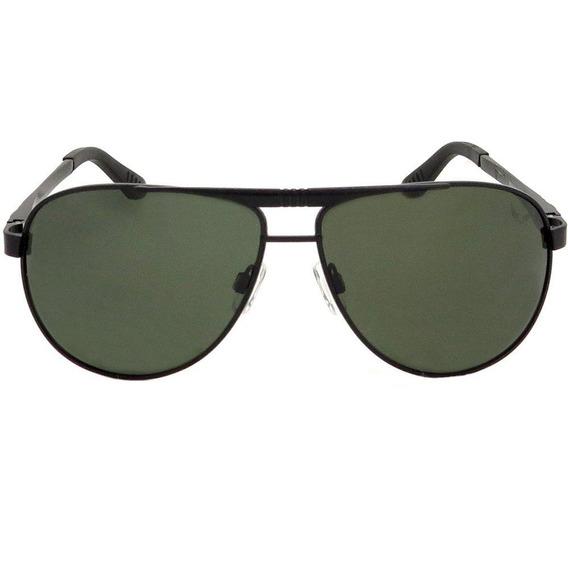 Óculos Aviador Siracusa Alumínio Polarizado Preto Verde