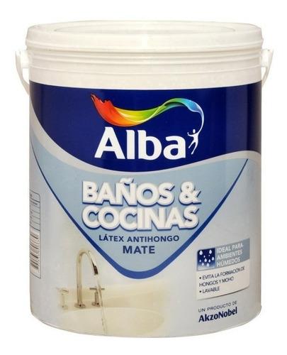 Latex Baños Y Cocinas Alba Antihongo X 4lts Pintumm