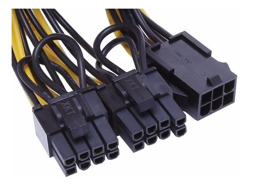 3 Cables Pcie 6 Pin A 6+2 Pin Dual Doble Tarjeta De Video