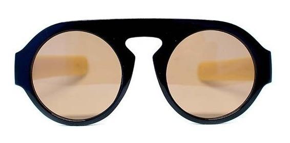 Lente De Sol Redondo Color Marrón, Glasses G3, P6485