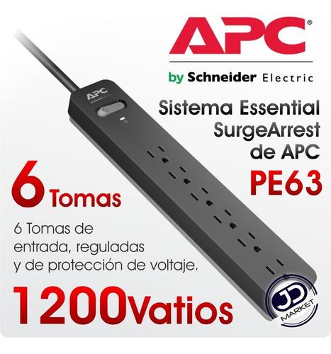 Regleta Regulador Voltaje Protector Apc 6 Tomas Nuevo