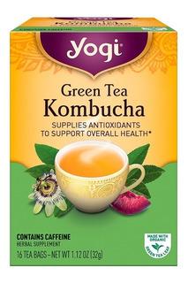 Chá Yogi Green Tea Kombucha 16 Tea Bags 32g