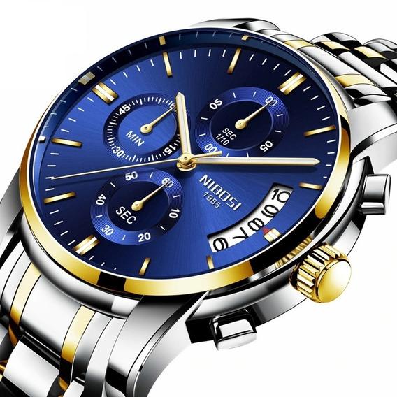 Relógio Masculino Nibosi 2353 Blindado Funcional Anti-risco