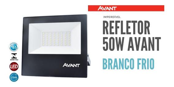 Refletor Slim Led 50w Avant Branco Frio Ip65