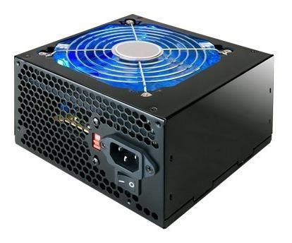 Fonte Atx 420w Pci-e Led Azul 120mm Mpsufp420w Mymax