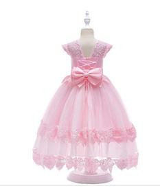 Vestido Infantil Longo Casamento Daminha Noivinha Renda 07