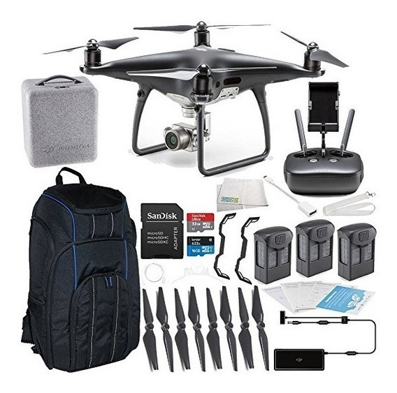 Phantom 4 Obisidian - Kit C/ 3 Baterias - R$ 19850 (vista)
