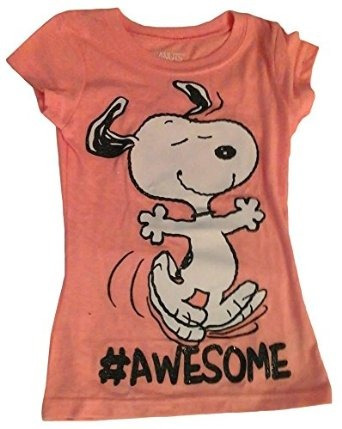 Peanuts Snoopy Girls Carácter #awesome Damas (melocotón Xs 4
