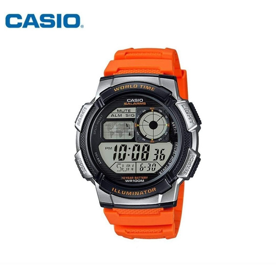 Relógio Militar Filme Casio Ae 1000w-1 Borracha Barato Origi