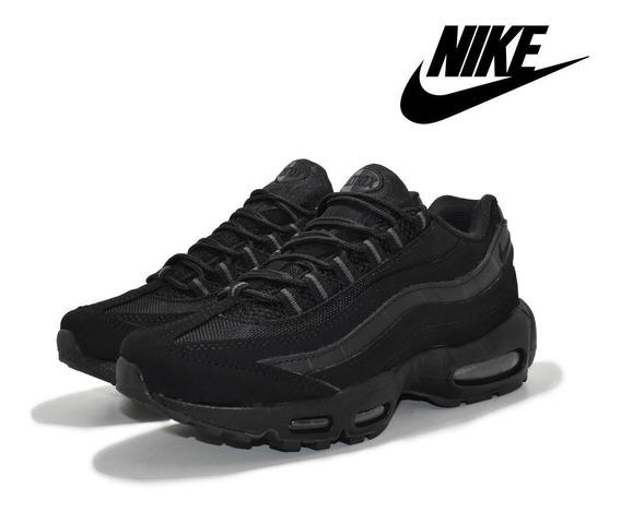 Tênis Masculino Nike Air Max 95 Black-alt Promoção + Frete