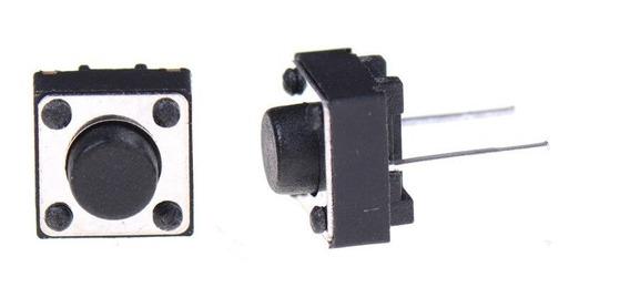 Botão Microchave Push Button 2 Pinos 100 Unid - 6*6*5mm