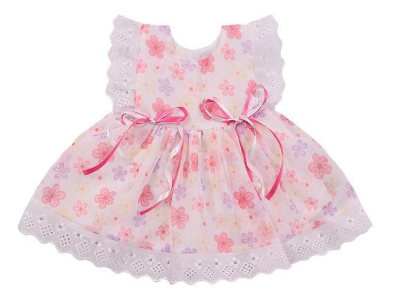 2 Roupas Recém Nascido Vestidos Bebê Redorn Menina Atacado