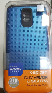 Galaxy S5 Spigen Slim Armor Case Azul - Original-3unid