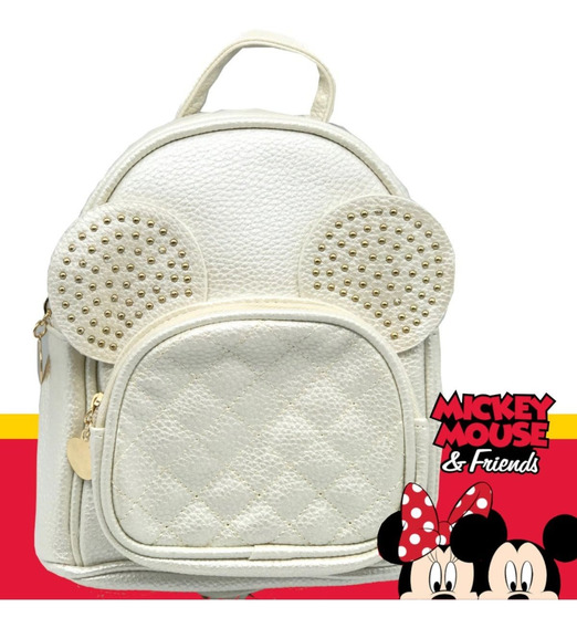 Bolsa Couro Minnie Off White