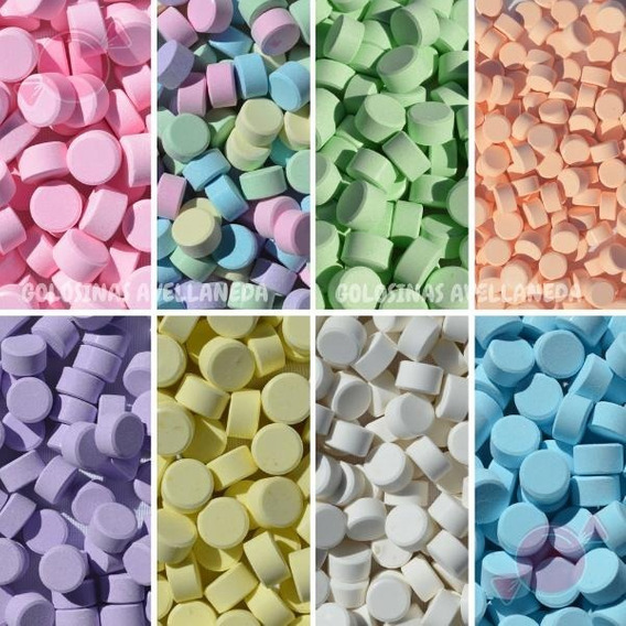 Pastillas Frutales Para Candy Bar X 500 Gramos Y Por Color