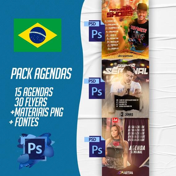 Flyers/banners Para Shows / Agendas Psd 100% Editaveis