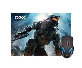 Combo War Gamer Oex Mouse 2400dpi + Mousepad 290x230mm, Mc-