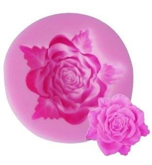 Molde De Silicone Rosa Florzinha 3d Flor