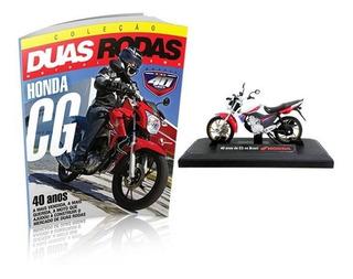 Miniatura Moto Honda Cg 160 + Revista Duas Rodas