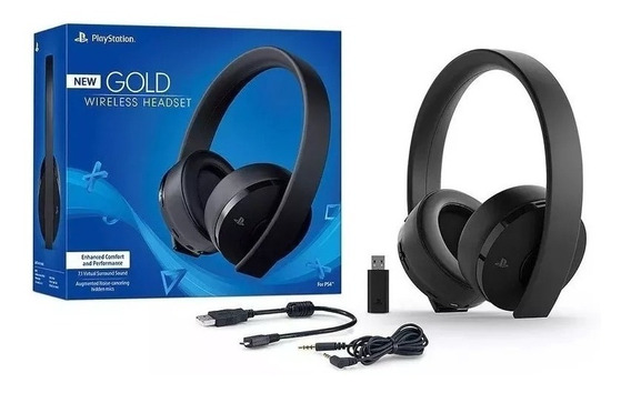 Headset Sony New Gold Wireless 7.1 Ps3 Ps4 Fone Ouvido