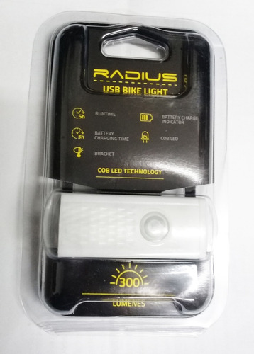 Luz / Destellador Delantera Bici Radius Usb Rpl-2255