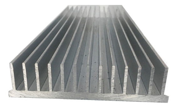 Dissipador De Calor Aluminio 30cm Comp.x10,5cm Larg.x2,5 Alt