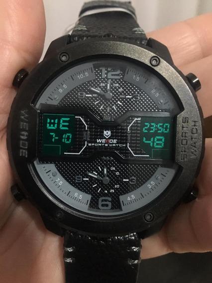 Relógio Masculino Weide Anadigi Wh6401 Preto