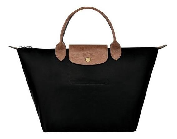 Le Pliage Bolso De Mano M Negro, Longchamp