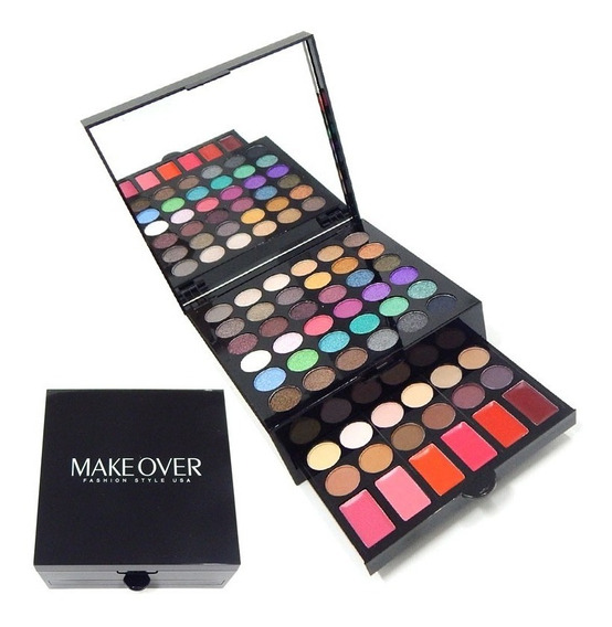 Makeover Set Maquillaje Paleta Sombras Brillo Labial Jes-319