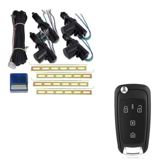Kit Travas Eletrica Universal 4 Portas + Controle Canivete