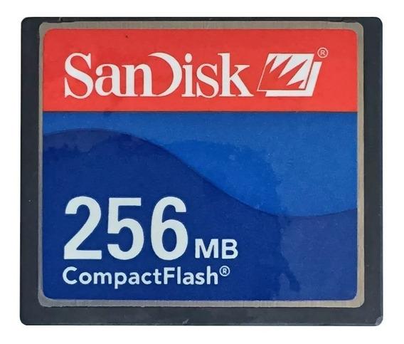 Compact Flash Sandisk 256mb Cartão De Memória Cf