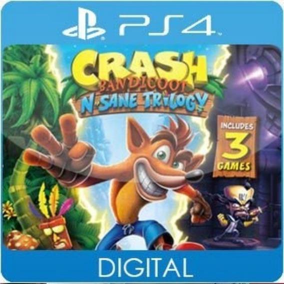 Crash Bandicoot N. Sane Trilogy / Ps4 / 1 / Envio Hoje