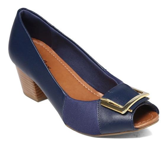 Peep Toe Usaflex Dark Blue Q6672/41