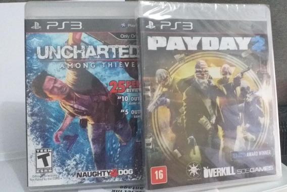 Uncharted 2 + Pay Day 2 Para Ps3 Semi Novos
