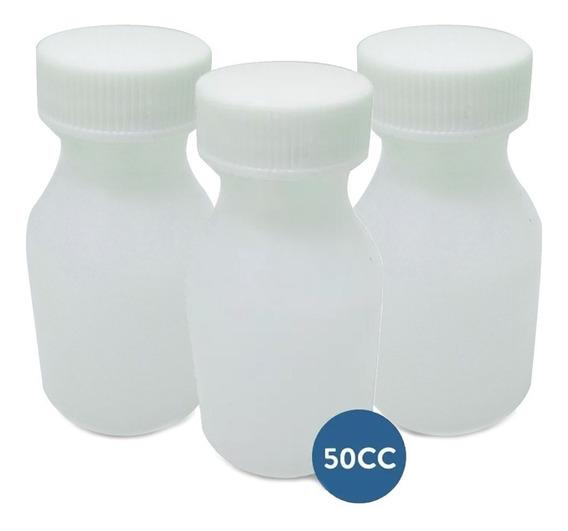 Pack 100u Frasquitos De Plástico De 50 Cc (diversos Usos)