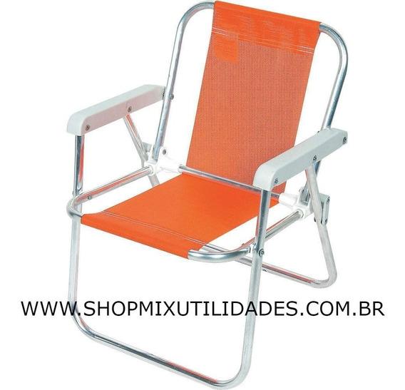 Cadeira De Praia Infantil Alumínio 032 Botafogo Lar E Lazer