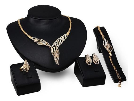 Set De Joyería Elegante- Cristales De Circón Incrustados
