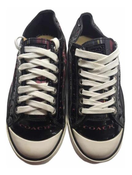 Coach Zapatos Barrett Negros Con Diseño Esclusivo