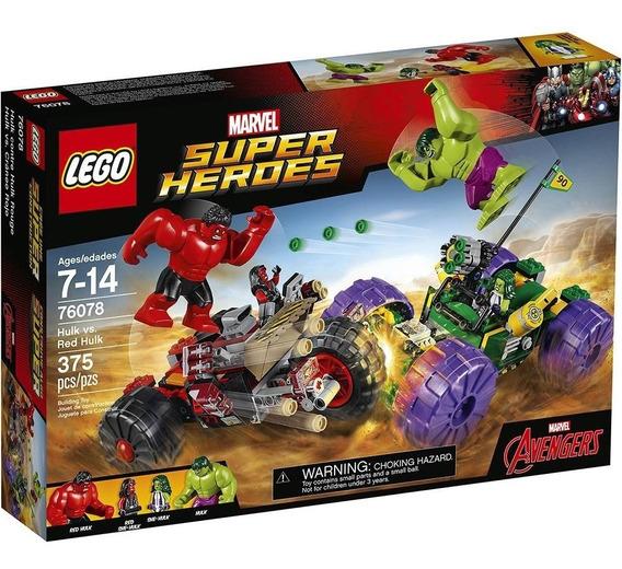 Lego Marvel Hulk Contra Hulk Vermelho 76078
