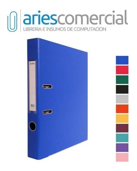 Bibliorato A4 U Oficio Lomo Angosto Nuevos Colores ! X Unida