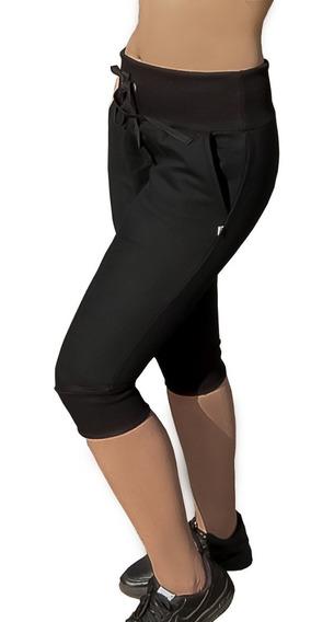 Bermuda Moletom Capri Feminina Skinny Fabricação Própria Top