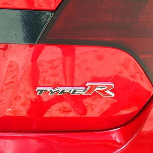 Imagen 1 de 2 de Emblema Metal Type R Honda Civic (negro - Rojo)