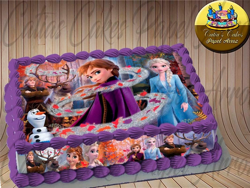 Papel De Arroz Faixas Para Bolo Comestível Frozen
