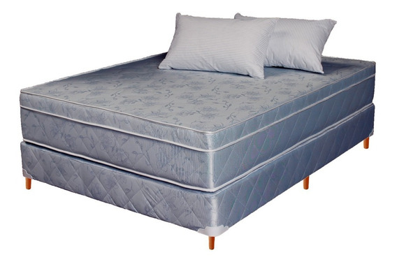 Sommier Colchón 2 Plazas Multiflex Euro Pillow Medidas 130 X