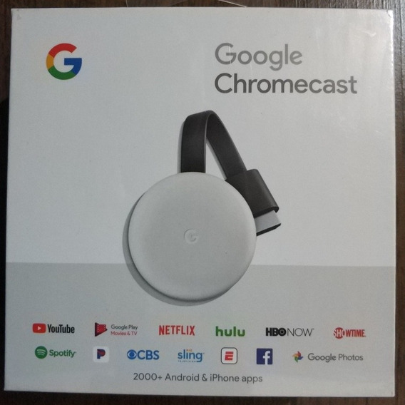 Google Chromecast 3 Full Hd Branco Importado Novo
